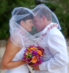 Kauai Wedding Couple in Love