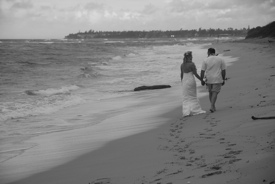 Couple Walking a Beach