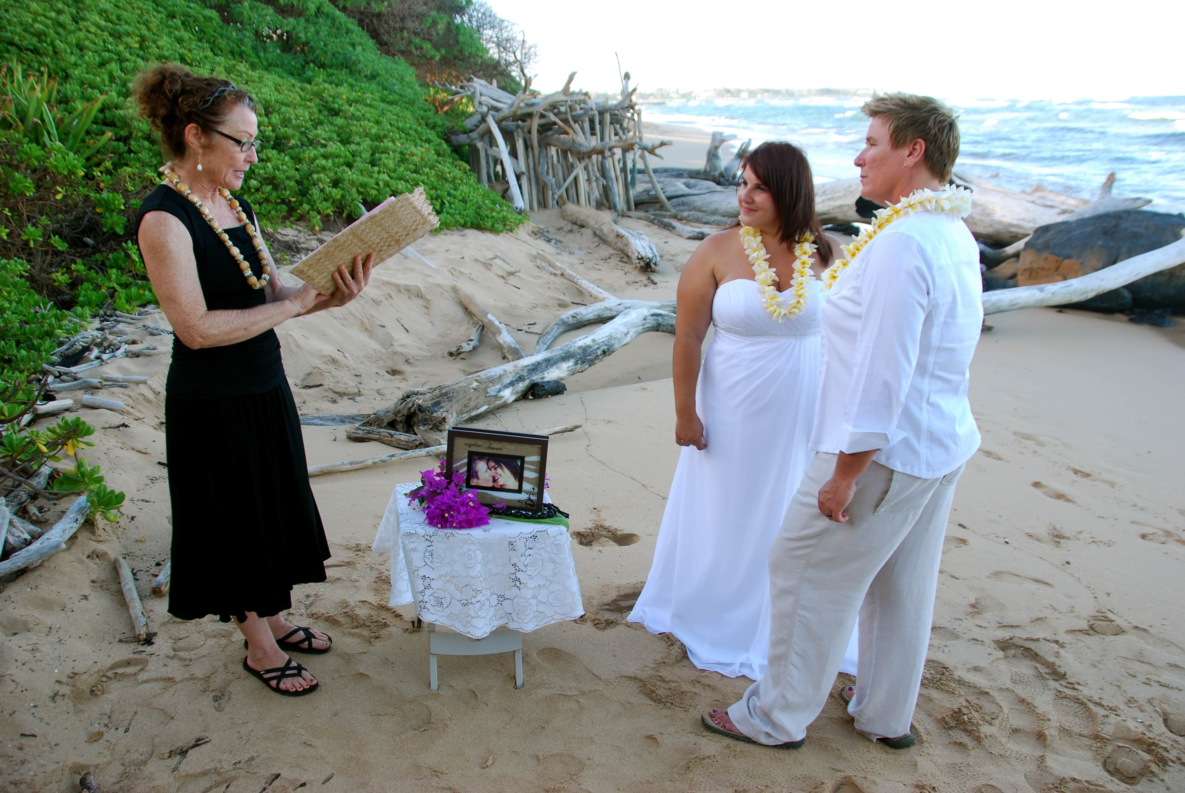 All the Kauai gay weddings below were coordinated and photographed by Aloha  Ever After (click images to see a larger version).